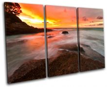 Waves Orange Sunset Seascape - 13-0177(00B)-TR32-LO